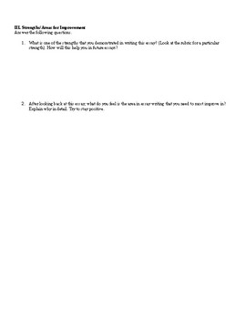 Essay Reflection Sheet