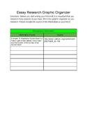 Essay Research Graphic Organizer