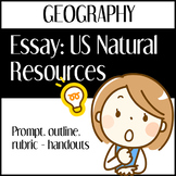 Essay: Resources in the US (Outlines, Organizers, Rubric, and Prompt)