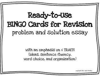 Essay Revision BINGO