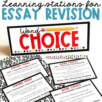 essay revision learning stations by room   teachers pay teachers essay revision learning stations