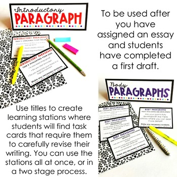 Essay Revision Learning Stations