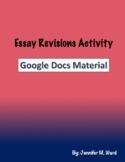Essay Revisions Activity Google Doc