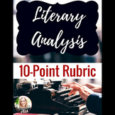 Literary Analysis 10-point Rubric