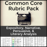 Essay Rubric Bundle for Expository, Persuasive and Literary Analysis Writing