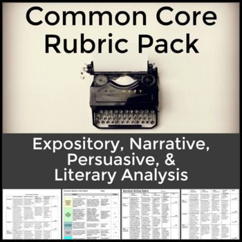 Essay Rubric Pack for Expository, Persuasive and Literary