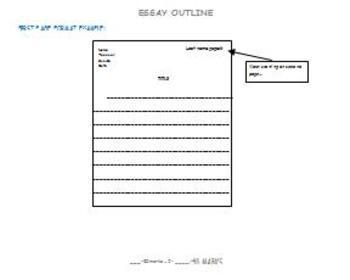 Essay Rubric and Checklist