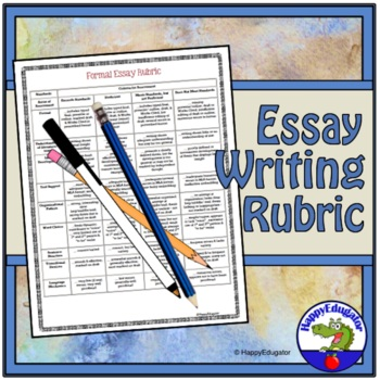 Formal Essay Rubric