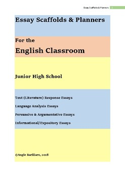 Essay Scaffolds for the English Classroom