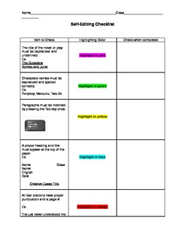 essay self editing and peer review sheet by katharine wheeler tpt essay self editing and peer review sheet