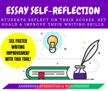 Essay Self Reflection Worksheet Organizer