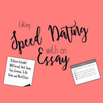 Essay Speed Dating