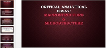 Essay Structure PPT's & outline