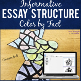 Essay Structure Practice - Color by Fact!