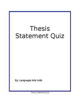 Essay Structure Quiz