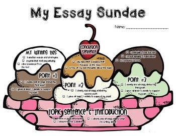 Essay Sundae - A Fun Rubric and Visual for Teaching Essays