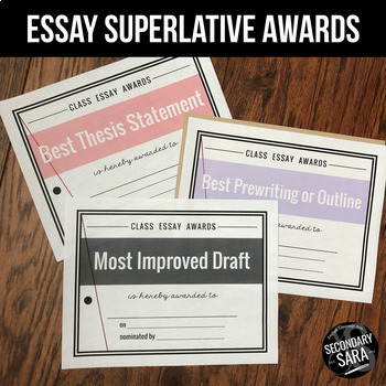 Essay Superlatives: Peer and Teacher Feedback for Student Writing!