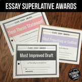 Essay Awards: 50 Certificates for Writing in Secondary ELA