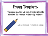 Essay Template- Sentence by Sentence Scaffold