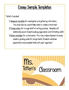 Essay Templates - Customizable