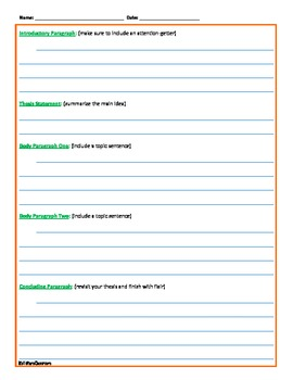 Essay Templates - Customizable