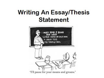 Essay Thesis Writing Lesson Plan Middle High School Friends