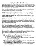 Essay Titles: Five Elements