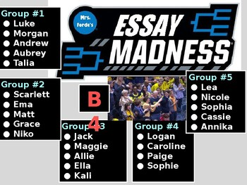 Essay Tournament Activity