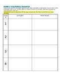 Essay Tournament Note Sheet