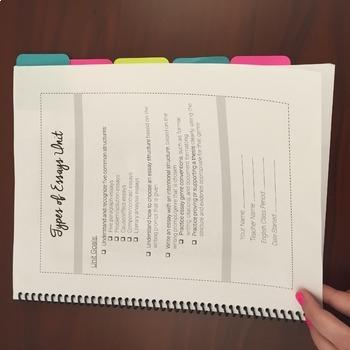 Essay Types Unit & Flipbook: Cause/Effect, Problem/Solution, & More!