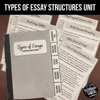 Essay Structure Unit & Flipbook: Cause/Effect, Problem/Solution, & More!