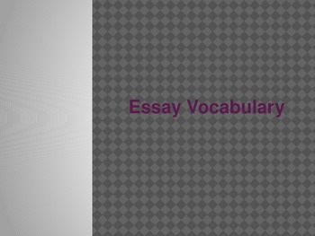 Essay Vocabulary Powerpoint