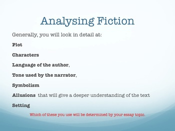 Essay Writing - Analytical