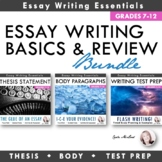 Essay Writing Basics Bundle: Thesis Statements, Body Parag