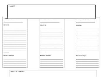 Essay Writing-Brainstorming Sheet/Graphic Organizer