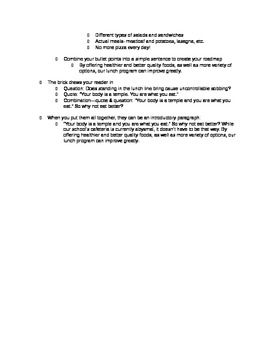 Essay Writing: Brick Thesis Roadmap Guided Notes