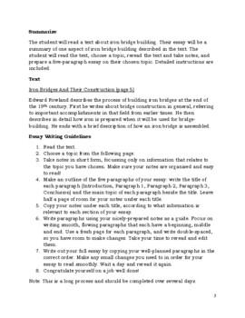 Essay Writing Building Iron Bridges By Canadian Winter Homeschool  Essay Writing Building Iron Bridges