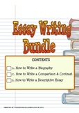How to Write Essay Bundle  (Biography, Comparison & Contrast, Descriptive Essay)