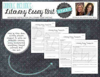 Essay Writing Bundle (Expository/Literary/Persuasive/Argument-Intro & Advanced)