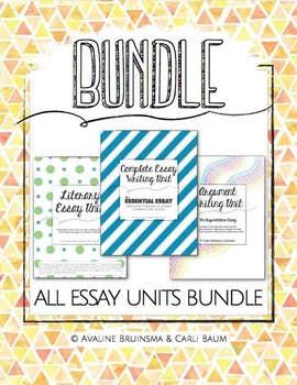Essay Writing Bundle (Expository/Literary/Persuasive/Argum