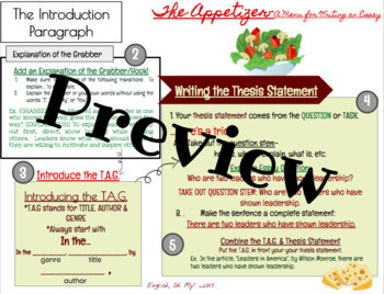 Essay Writing Bundle-Introduction, Body, & Conclusion Paragraph Writing