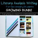 Essay Writing Bundle   Literary Analysis Growing Bundle
