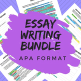 Essay Writing Bundle for All Subjects - APA Format, CCSS Aligned