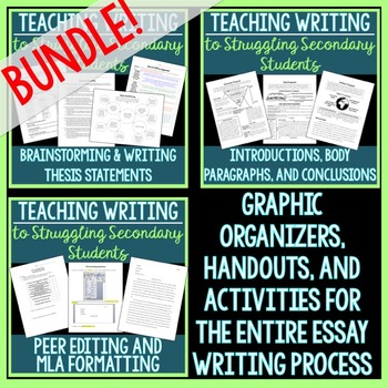 Essay Writing Bundle (for Struggling Secondary Students)