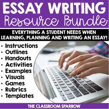 Essay About Business Essay Writing Resources Bundle Thesis Of A Compare And Contrast Essay also Business Plan Writers In Columbia Sc Essay Writing Resources Bundle By The Classroom Sparrow  Tpt English Creative Writing Essays