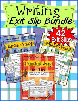 Essay Writing Exit Slips Bundle