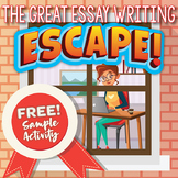 Essay Writing ESCAPE ROOM Activity (Parts of an Essay) FREE!