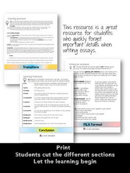 Essay Writing Flip Book