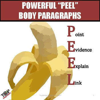 Expository Body Paragraphs PEEL Format