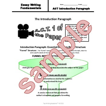 Expository Introduction Paragraph